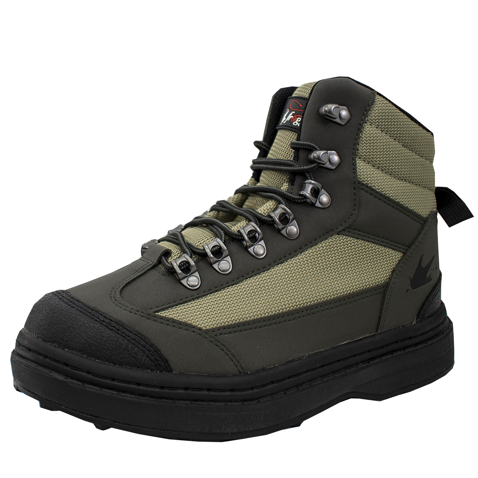 Men's Hellbender Wading Shoe - Cleated | Green / Silver / Black-large