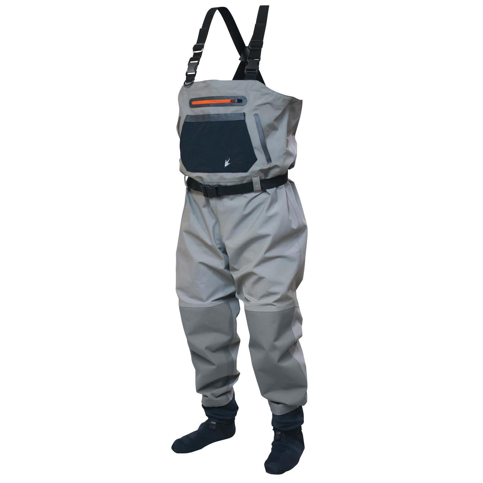 Sierran Reinforced Nylon Breathable Stockingfoot Wader | Slate / Gray