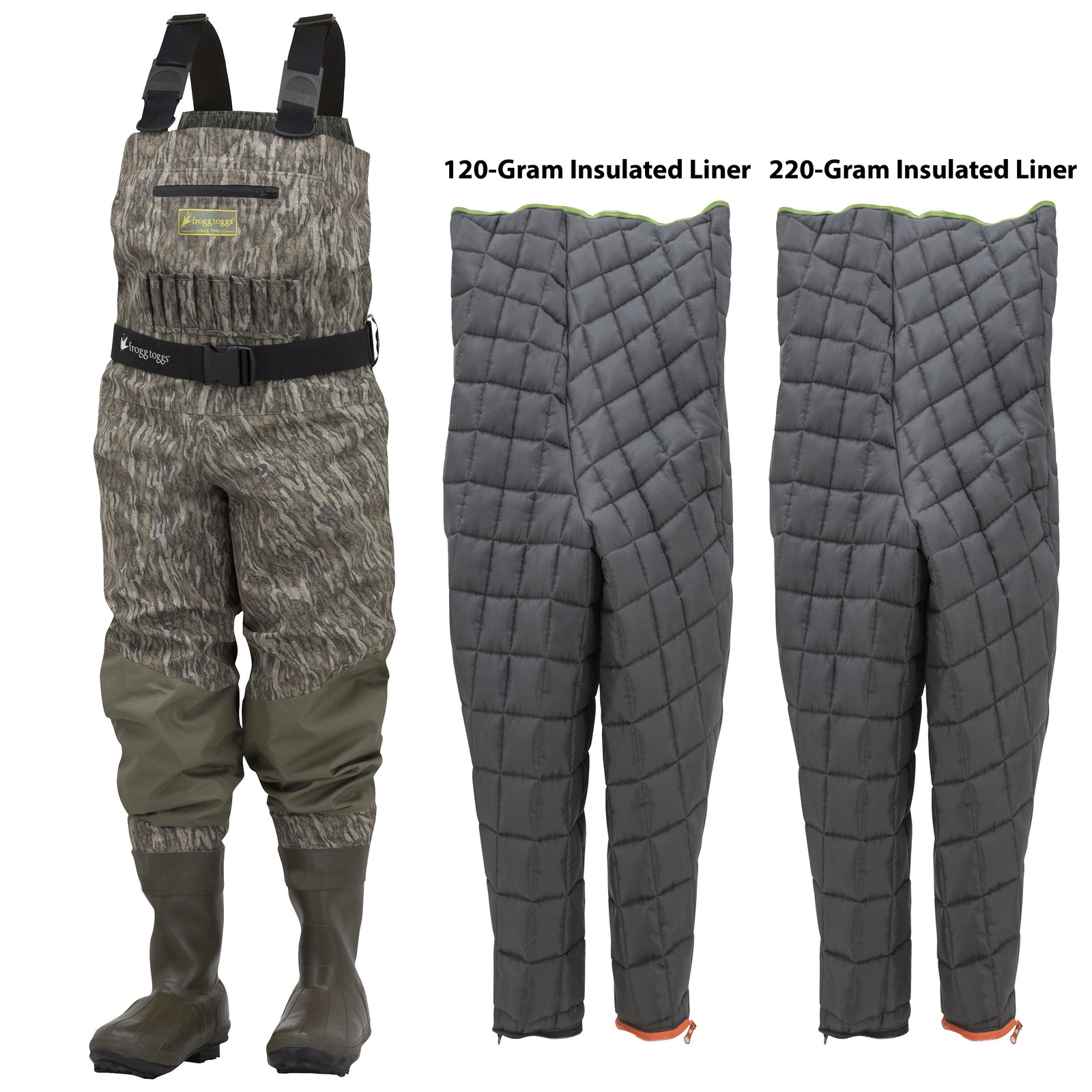 Grand Refuge 2.0 Bootfoot Waders with Liner   Mossy Oak Bottomland
