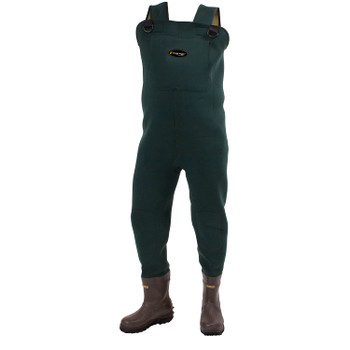 Men's Amphib Bootfoot Neoprene Cleated Chest Wader | Forest Green