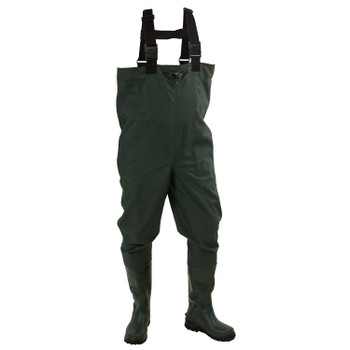 Men's Cascades™ 2-Ply Bootfoot Poly/Rubber Cleated Chest Wader | Forest Green