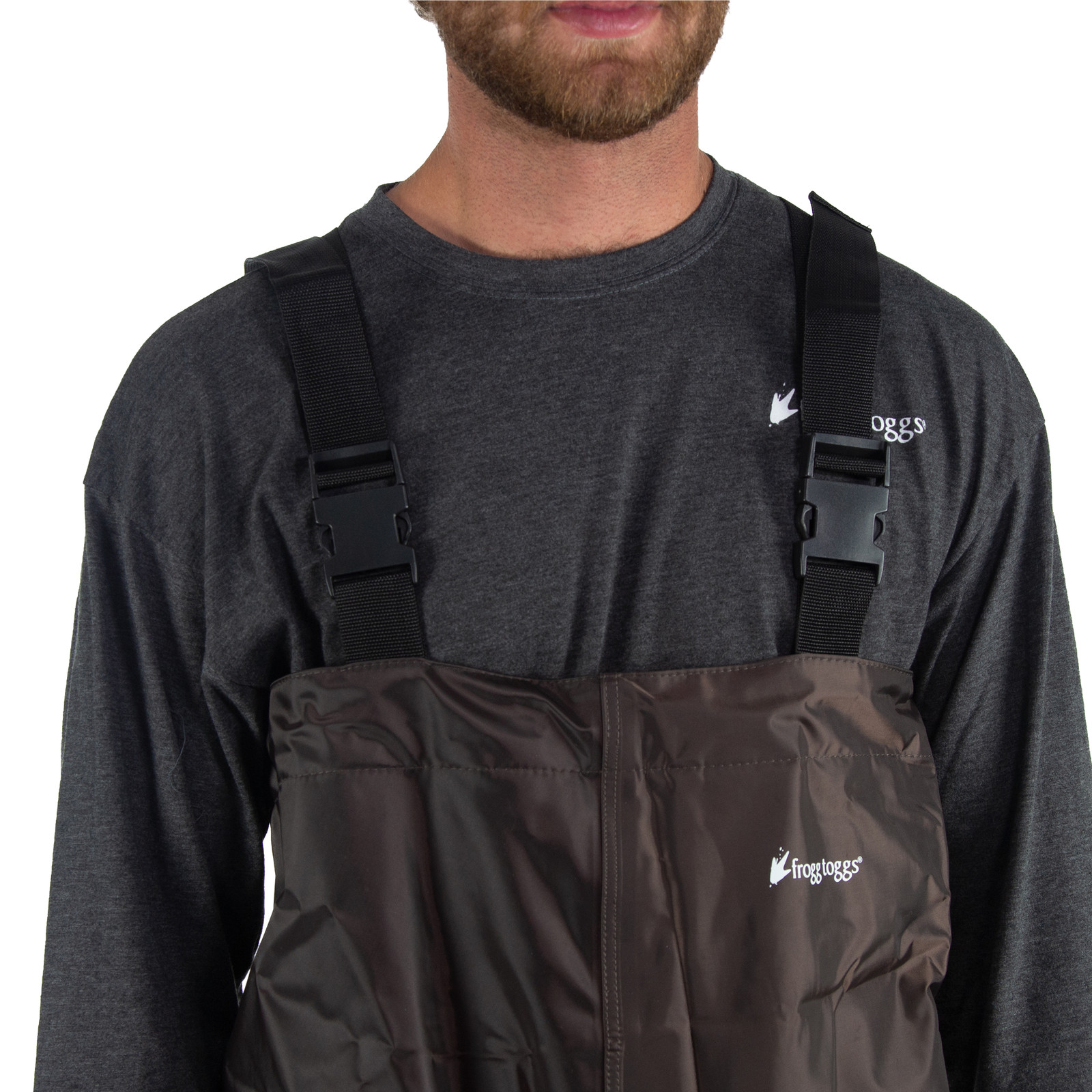 Men's Rana II™ PVC Cleated Bootfoot Chest Wader   Brown-large
