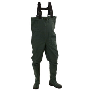 Men's Cascades™ 2-Ply Bootfoot Poly/Rubber Felt Chest Wader | Forest Green