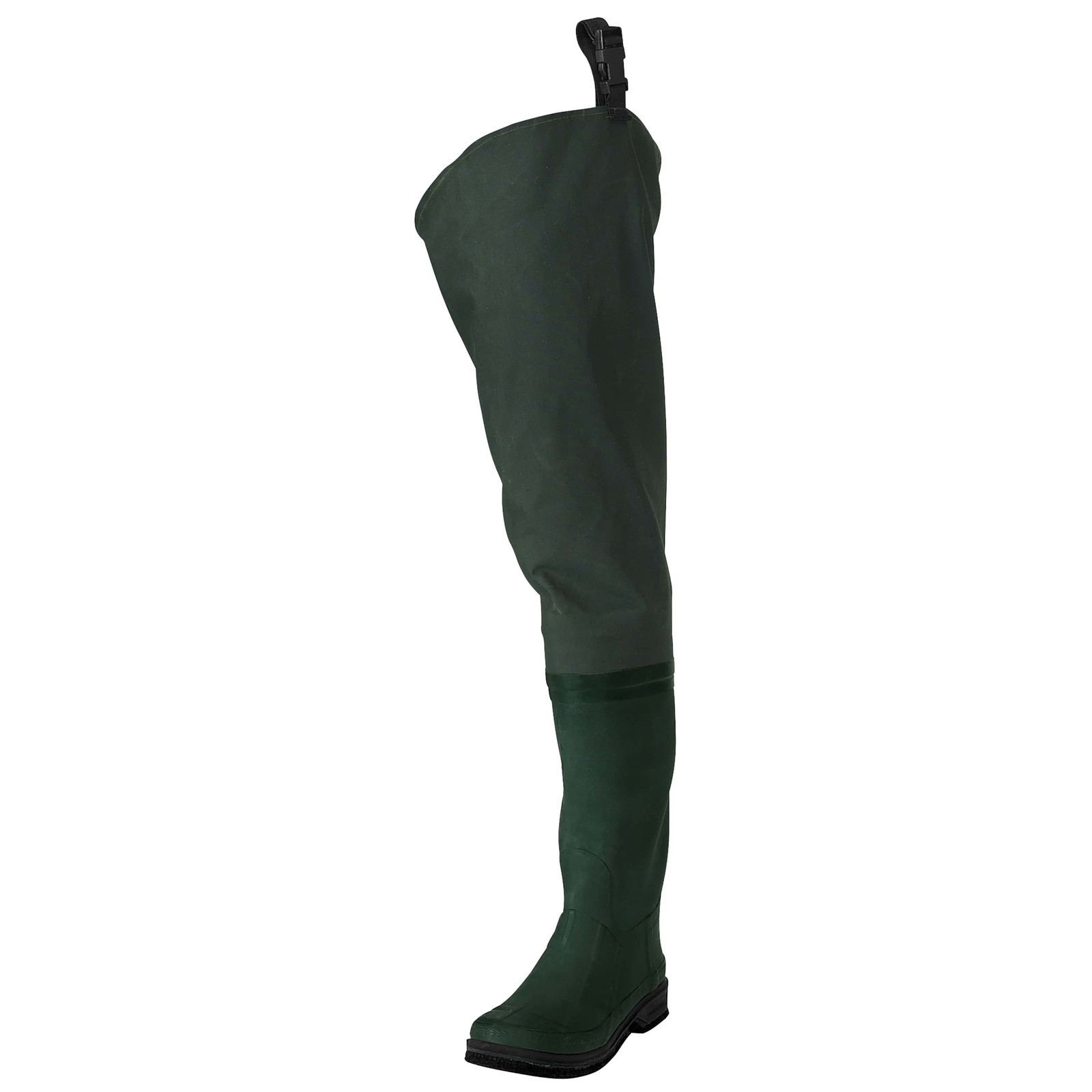 Men's Cascades™ 2-Ply Bootfoot Poly/Rubber Cleated Hip Wader | Forest Green