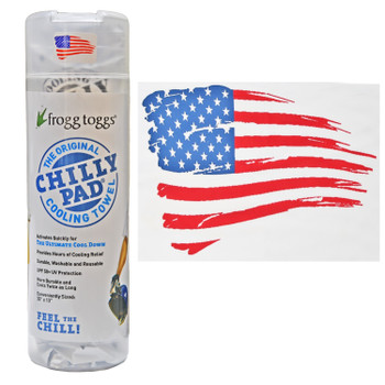 Chilly Pad Cooling Towel | White | All American US Flag