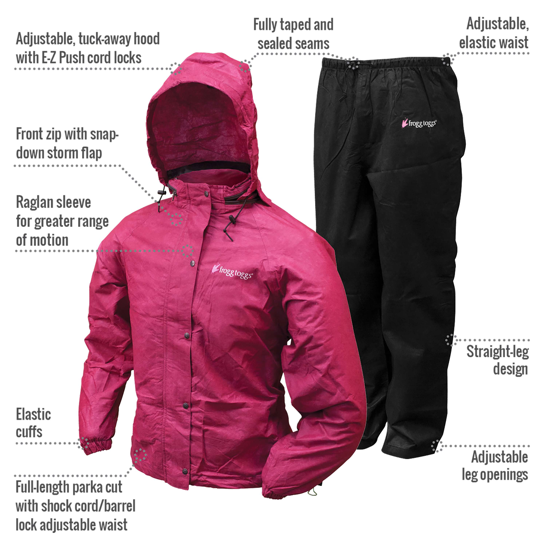 Frogg Toggs All Purpose Women/'s Rain Suit